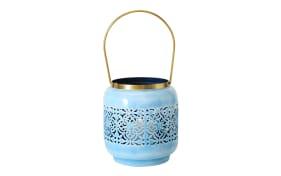 Windlicht Maroco in blau, 15 cm