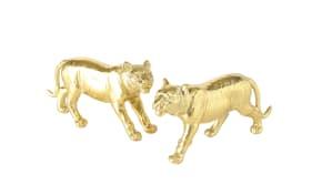 Figur Tiger Asyn in gold, 10 cm