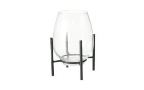Vase Taro in schwarz, 21 cm