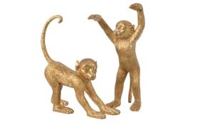 Affe in gold Antik, 44 cm