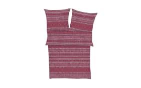 Bettwäsche Zeitgeist in beere/rosa gemustert, 135 x 200 cm