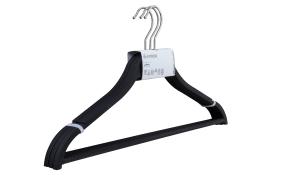 Kleiderbügel Softtouch in schwarz, 3er Set