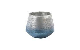 Vase in blau/silber, 13 cm