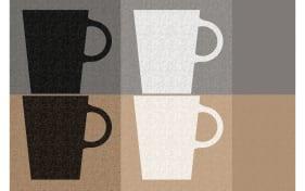 Tischset mit Tassen-Motiv in grau, 28,5 x 43,5 cm