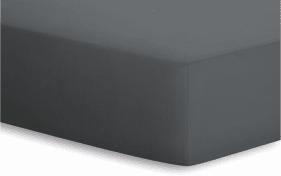 Spannbetttuch Jersey-Elasthan in titan, 180 x 200 x 25 cm