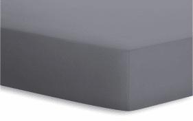 Spannbetttuch Jersey-Elasthan in graphit, 90 x 190 x 25 cm