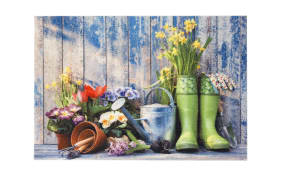 Fußmatte mit Garten tools- Motiv, in 40 x 60 cm