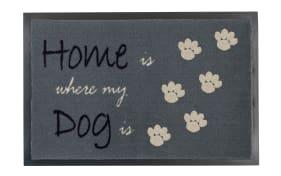 Fußmatte Home Dog in grau, 40 x 60 cm