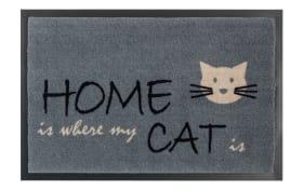 Fußmatte Home Cat in grau, 40 x 60 cm