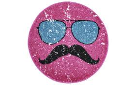Designteppich my Hipster in pink, 80 x 80 cm