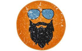 Designteppich my Hipster in orange, 80 x 80 cm
