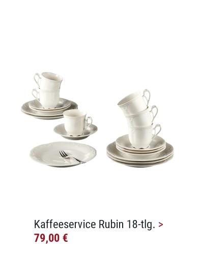 Kaffee-Service Rubin cream