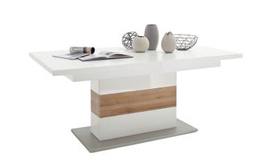 Esstisch 3039 in weiß / Riviera-Eiche, mit ausziehbarer Tischplatte
