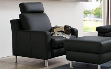 Sessel TS 110 in schwarz, ohne Kopfstütze