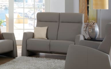 Sofa 2-Sitzer Tangram Relax in Longlife grau