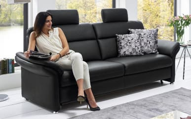 3-Sitzer Modell Mandala in schwarz