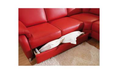 2-Sitzer inklusive Schubkasten in rot