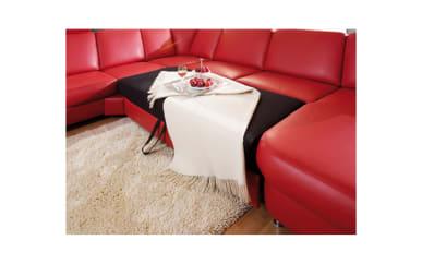 2,5-Sitzer inklusive Querschläfer-Funktion in rot