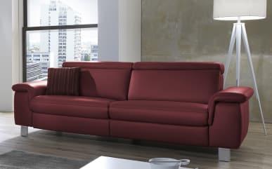 Sofa Lava 3-sitzig in merlot