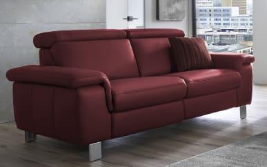 Sofa Lava 2,5-Sitzer in merlot