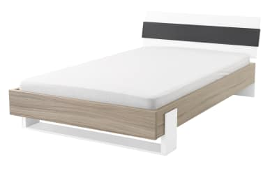 Liegenbett HiLight 323 in Driftwood-Optik/weiß