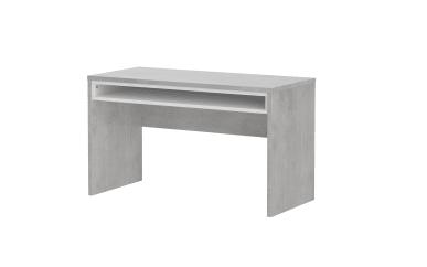 Wangenschreibtisch Concrete in Beton-Optik/alpinweiß