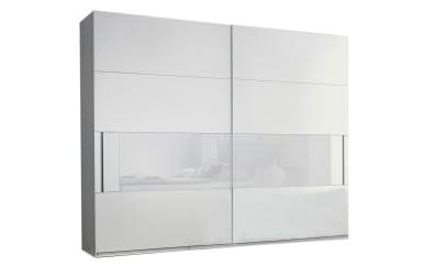Schwebetürenschrank Joelle in weiß/light grey