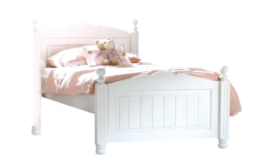 Bett Cinderella Premium in Kiefer weiß lackiert massiv