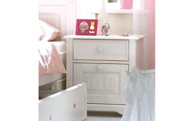 Nachtkommode Cinderella Premium in Kiefer weiß lackiert massiv