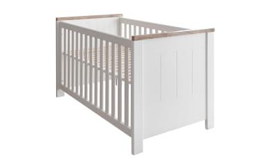 Kinderbett 5008 in weiß/Westminster Eiche-Nachbildung