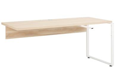 Ansetzplatte Set+ in Eiche Natur-Optik für Schreibtisch Set+, ca. 120 cm Breit
