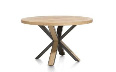 Tisch Ovada in Eiche railway brown