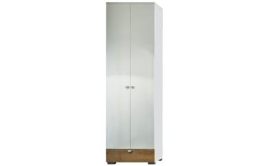 Garderobenschrank Una in weiß/Wildeiche