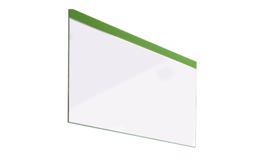 Spiegel Gloss in weiß/grasgrün, 119 x 84 cm
