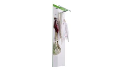 Garderobenpaneel Gloss in weiß/grasgrün