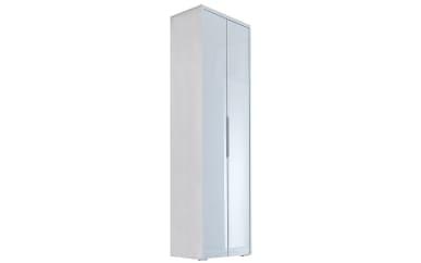 Garderobenschrank Gloss in weiß