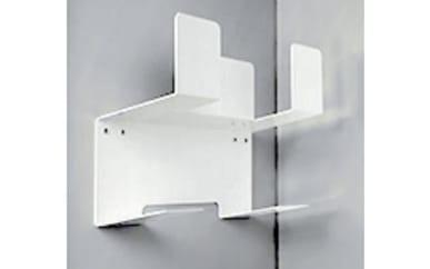 Besen-/Wischerhalterung in weiß, ca. 14 x 26 x 35 cm