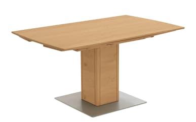 Säulentisch aus Santana-Eiche furniert