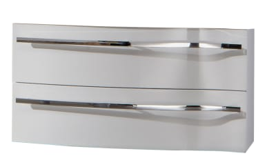 Waschtischunterschrank 3160 in weiß Glanz für Mineralgußwaschtisch 3160, 2 Auszüge