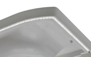 LED-Zusatzbeleuchtung für Schattenfuge inklusive Schalter für Mineralgußwaschtisch Leo Living