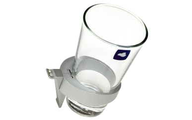 Glashalter für Funktionsspiegel Leo Living 109 in Aluminium Matt