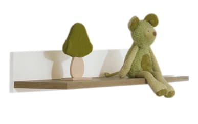 Wandregal für Babyzimmer Remo kreideweiß/Eiche bordeaux Nachbildung