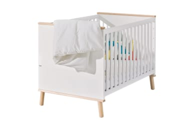Kinderbett Ylvie in kreideweiß/Birke