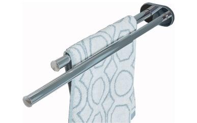 Handtuchhalter 2-armig in Chrom Glanz zur Wandmontage