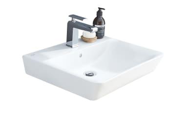 Keramik-Ausatzwaschtisch Connect Air in weiß ohne Armatur