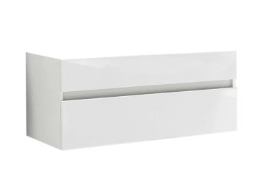Waschtischunterschrank Zoom in polarweiß Hochglanz/Hunton Eiche-Optik