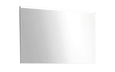 Flächenspiegel Zoom in polarweiß Hochglanz/Hunton Eiche-Optik