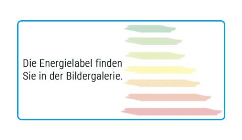 Energieeffizienz: Einbauküche York in Echtholz Lack seidengrau, Siemens-Geschirrspüler