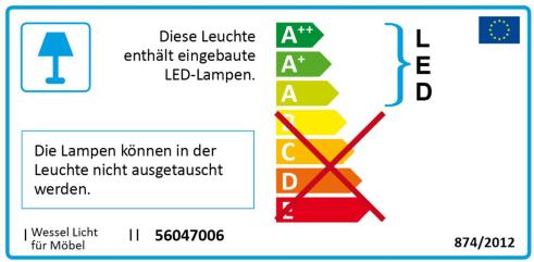 Energieeffizienz: Wandregal HiLight 323 mit Beleuchtung in anthrazit