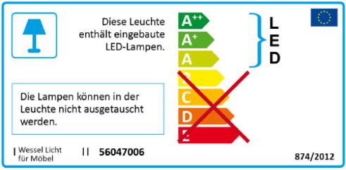Energieeffizienz: Highboard Clip 313 in weiß/Beton-Optik